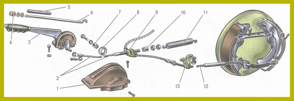 Схема стояночного тормоза семерки