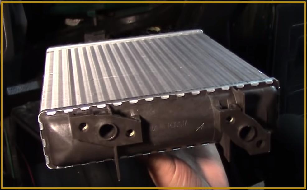 Новый алюминиевый радиатор печки