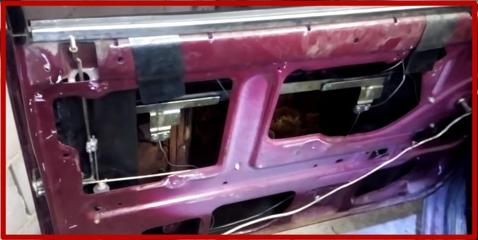 Расположение стеклоподъемника ВАЗ 2107